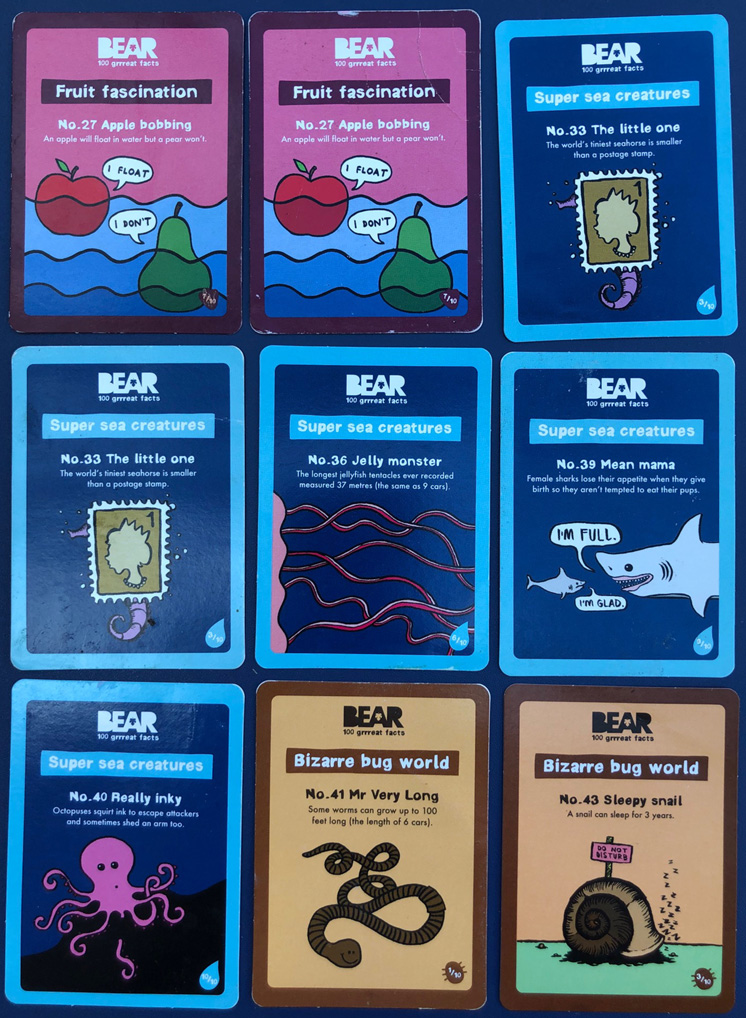 Bear Facts cards for sale
